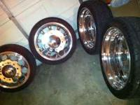 "Alcoa 24"" big rig wheels and tires call  this set up"