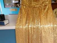 4 brand new Sequence bridesmaid/prom dresses. Gold,