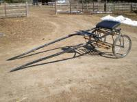 Very sharp serafin sulky co two wheel horse show cart