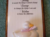 Very Nice Wall Plaque.  The Plaque the Serenity Prayer