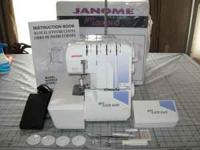 Janome MyLock 644D serger. Very nice.2, 3 or 4 thread.