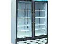 Serv-Ware 2 glass door soda refrigerator, Model#GR-48 -