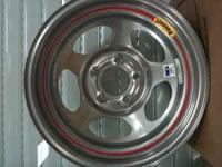 "Set of 4 Bassett 15x8 steel wheels 5 on 4.75"" bolt"