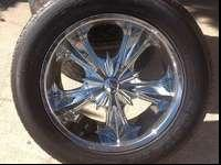 "I HAVE FOR SALE. SET (4) KUMHO TIRES 275/55R20"" AND"