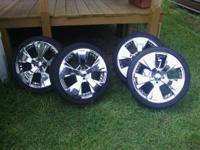 "For sale:.  Set of 4 17"" Chrome Wheels brand name ""ICE"""