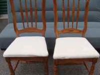 Two chairs in good condition they are oak. chairs are
