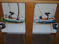 "Like New! Pair of RC boats are 16"" long each, with"