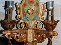 This is a beautiful set of 2 vintage wall sconces that