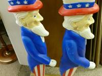 Up For Sale.  Set of 2 classic Uncle Sam plastic impact