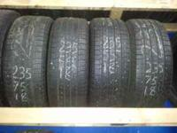set of Michelin latitude size 235/55/18. 70% tread life