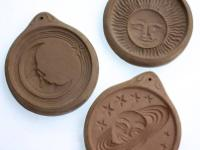 These Hartstone brand pottery cookie molds are