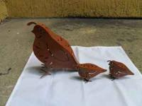 FOR SALE: SET OF 3 COPPER PARTRIDGES USED FOR