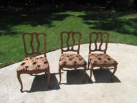 PRICE LOWERED!!  Set of 3 nice dining side chairs. The