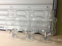 Entertain in style with these lovely glass pitchers