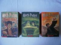 Selling a set of 3 Harry Potter softcover books by J.K.