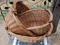 Collection of 3 Rattan / Wicker Nesting Containers--