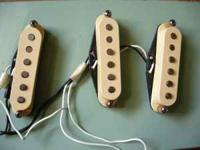 for a set of USA Fender strat pickups, stagger poles,