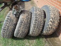 3, 315/75/R16 Maxxis Big horn mudders, and 1