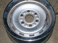 SET OF 4- 16 INCH 6 HOLE STOCK WHEELS FOR CHEVY OR GMC