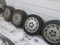 Set of 4 1987 Toyota supra tires and rims. 205/60r 15.
