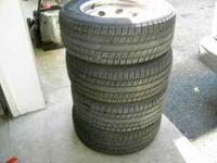 "Four decent 215/65/R15"" Runway Enduro-656 M&S tires."