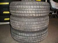 MATCHING SET OF 4 ALL SEASON RADIAL TIRES 10/32 90%