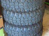 Selling a set of 4 Wild Country MTX All-Terrain tires