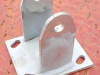 "Set of 4 caster brackets 4.5""L x 4""W x 4.5""H, without"