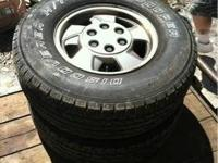 This is a set of 4 Chevy 6 lug aluminum wheels with