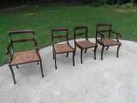 PRICE LOWERED!!  Very nice set of 4 mahogany dining