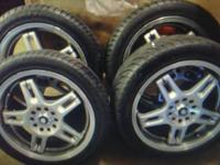 "Full set of ver nice Enkei 17"" custom rims complete"