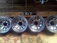 "Set of 4 Very Good Used (Pacer) 15""x 8"" 6-Lug Rims For"
