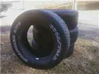 Set of 4 Goodyear tires, good tread, $100, not offroad