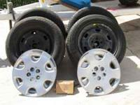 We have 4 tires and rims w/hubcaps from a 2008 PT