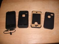 Set of 4 Iphone 4 cases.3 of which are gently used 1 is