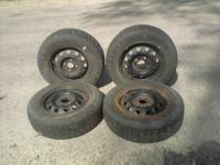 4 Pirelli 175/70/R13 Tires on Honda 13x5 4 Lugg Rims