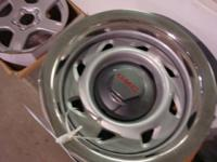 WE HAVE A SET  OF 4- GMC RALLY RIMS ONLY NO TIRES 15 X