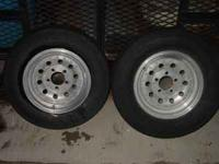 Rims and Tires asking $300.00 for the whole set Two