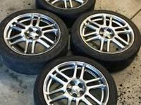 for sale a set of 4 rims and tires off a scion tc. one