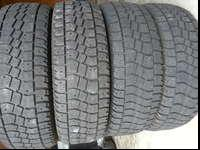 A set of 4 used tires LT245-75-16 Avalanche Allterrain