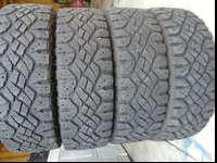A set of 4 tires LT245-75-16 Goodyear Wrangler Duratrac
