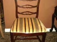 Great looking set of (4) mahogany ladderback chairs by
