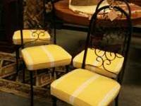 Set of 4 matching wrought iron chairs, newly