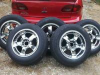 I have a set of 5 Arelli wheels and tires for sale.
