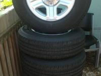 Up for sale are 5 225/75 r16 Goodyear wrangler