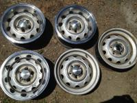 We have 5 Mopar Rallye steel wheels, 15x6.5 inch, with