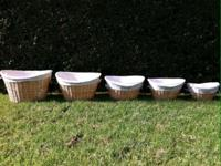 I'm selling this Set of 5 Nesting Wicker Baskets w/