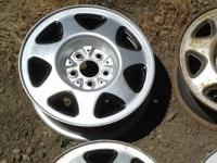 We have a set of 5 steel wheels available. Three have