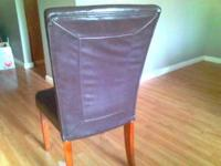 Beautiful fan back parson chairs. Set of 6 for $500. I
