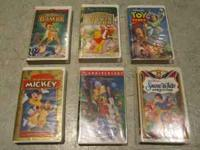 I am selling a set of 6 Disney VHS movies: Snow White